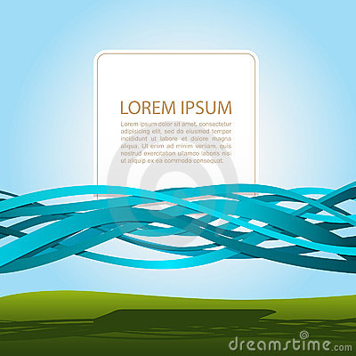 Free Banner In Blue Ribbons Royalty Free Stock Photos - 21488798