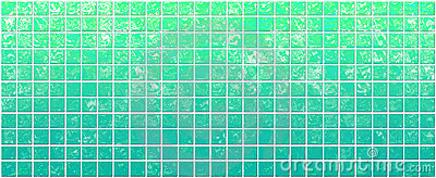 Banner of the iridescent green squares