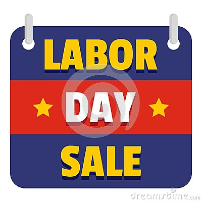 Banner labor day sale logo icon, flat style Vector Illustration