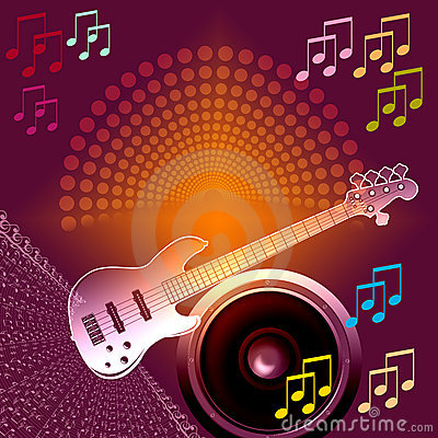 Banner Music notes