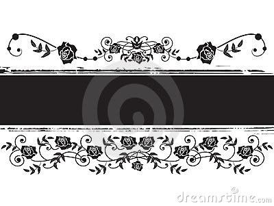 Banner with roses