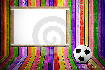 Banner and soccer ball