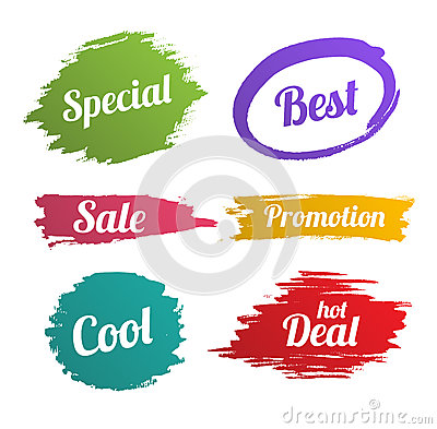 Free Banner Splash Set For Promotion Royalty Free Stock Photography - 53102617