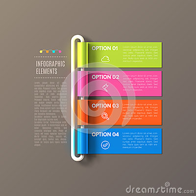 Free Banner Steps Business Infographic Template Stock Images - 53397504