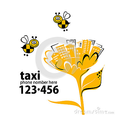 Banner for taxi service