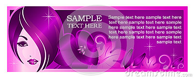 Banner template for beauty salon or other services