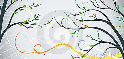 Banner with tree