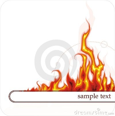 Free Banner With Fire Royalty Free Stock Photo - 2435275