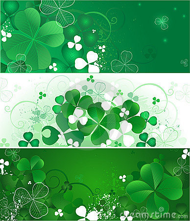Free Banner With The Magic Clover Royalty Free Stock Image - 12263276