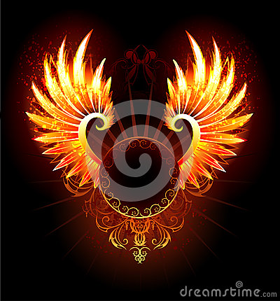 Free Banner With Wings Phoenix Royalty Free Stock Photos - 43382768