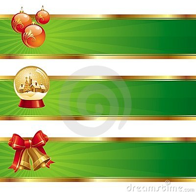 Banners with Christmas symbols
