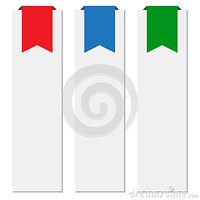 Banners with colorful ribbons