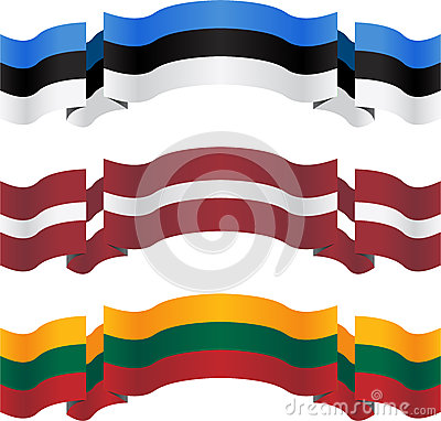Banners and flags of baltic states