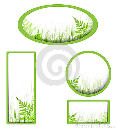 Banners with grass