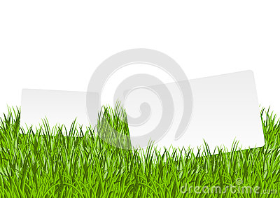 Banners in grass