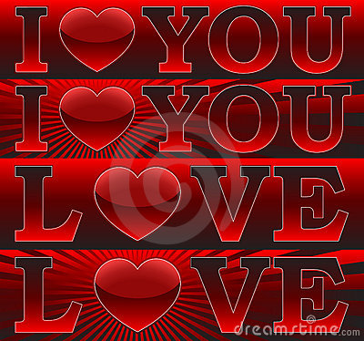 Banners _I Love You_