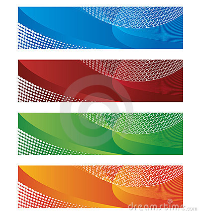 Free Banners In Halftone And Gradient Stock Images - 14193654