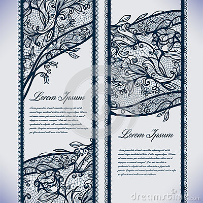 Free Banners Lace Royalty Free Stock Image - 40924706