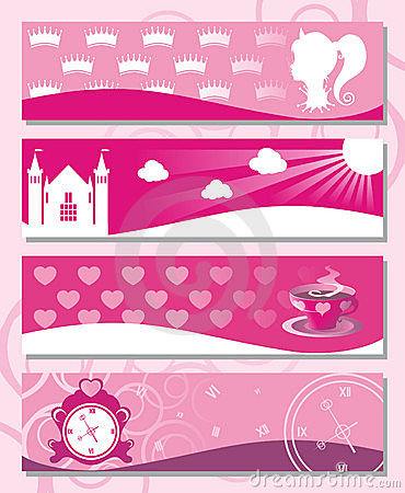 Free Banners Little Princess Stock Photos - 16597133