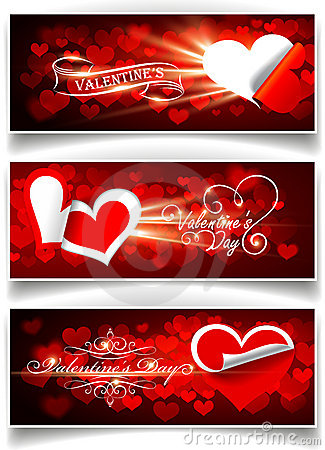 Free Banners On Valentine S Day Royalty Free Stock Images - 22832039