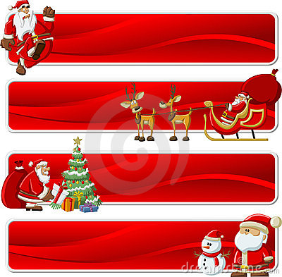 Banners of Santa-Claus on Christmas time