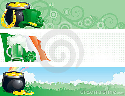 Banners for  St. Patricks Day