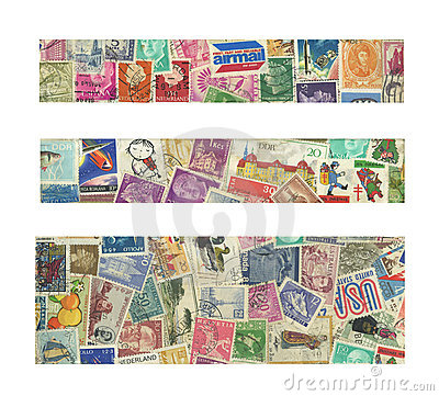 Banners of stamps