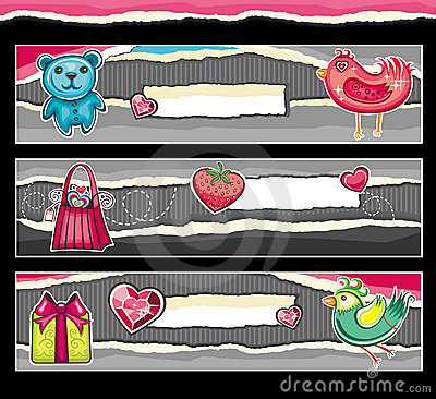Banners for Valentine s day.