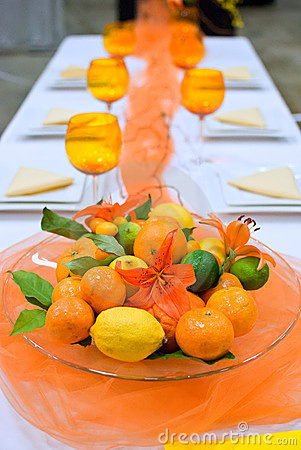 Free Banquet Table Arrangement Royalty Free Stock Image - 18504536