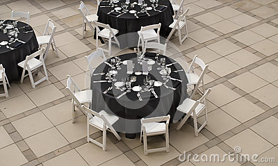 Banquet table for social event
