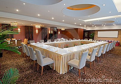 Banqueting hall in hotel