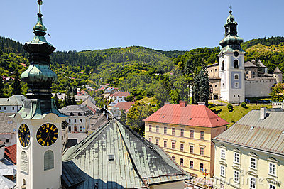 Banska Stiavnica City Hall and Old castle