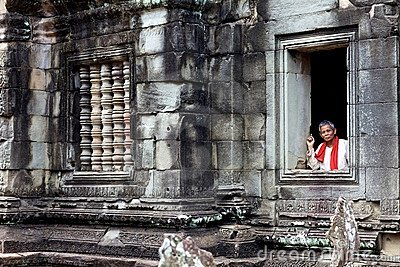 Banteay Samre Temple Cambodia Editorial Photography