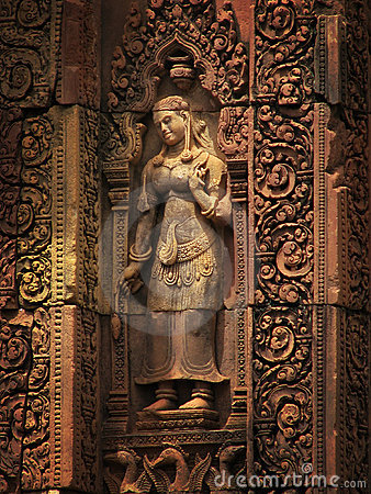 Banteay Srei temple near Angkor Wat, Cambodia.