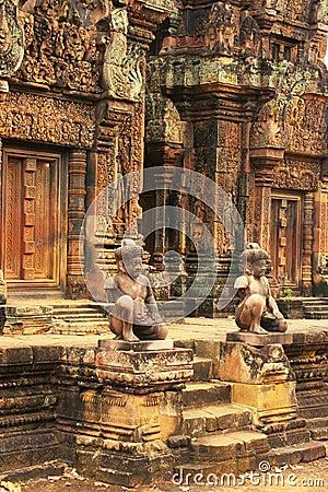Free Banteay Srey Temple, Angkor Area, Siem Reap, Cambodia Royalty Free Stock Photography - 29306677