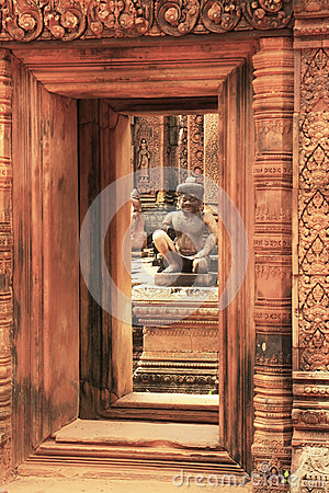 Free Banteay Srey Temple, Angkor Area, Siem Reap, Cambodia Stock Images - 29306814