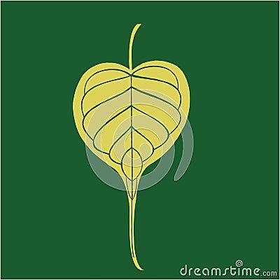 Banyan leave in dark green