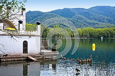 Banyoles lake, Girona province, Spain