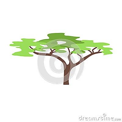 Free Baobab Tree  On White Vector Illustration. Stock Images - 81924094