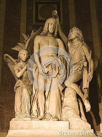 Free Baptism Of Jeusus - Madeleine Church In Paris Royalty Free Stock Photos - 5464868