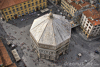 Baptistery of Florence Editorial Photography