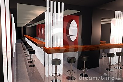 Bar 3D render image