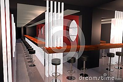 Bar 3D render image