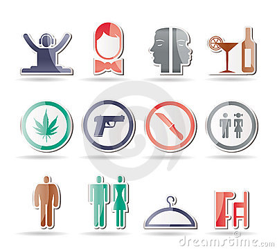 Free Bar And Night Club Icons Stock Photos - 17369033