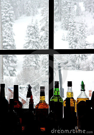 Free Bar At The Ski Resort Royalty Free Stock Photos - 21188