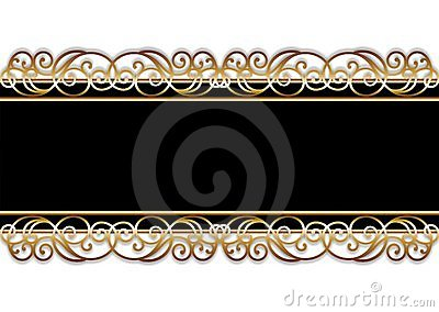 Bar in black and gold