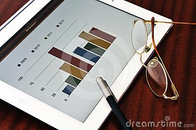 Bar chart in tablet