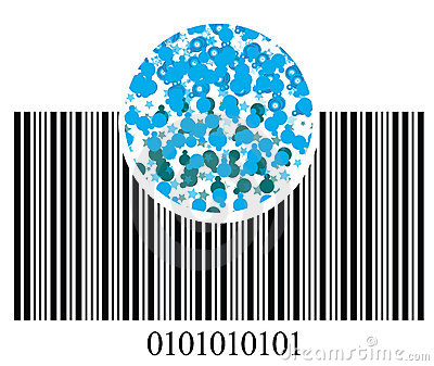 Bar code and bubbles