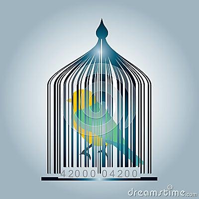Bar code cage