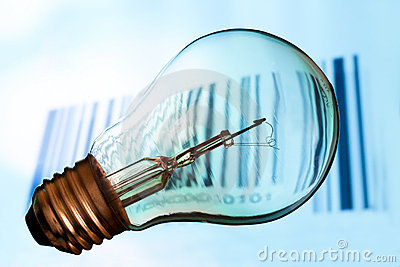 Bar code with  lightbulb